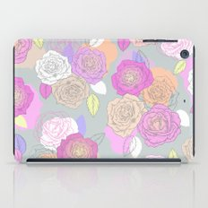 Roses, painted floral pattern iPad Case