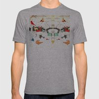 Animal Illustration Mens Fitted Tee Athletic Grey SMALL
