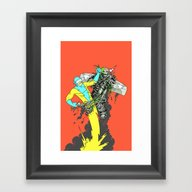 Deathwing's Demise Framed Art Print