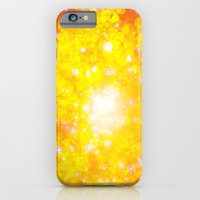Shimmering Stars Orange iPhone 6 Slim Case