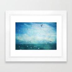 brighton seagulls 3 Framed Art Print