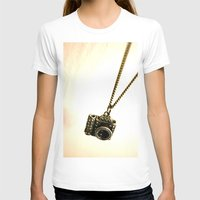 Camera Womens Fitted Tee White SMALL
