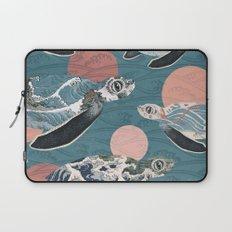 Sea Turtle Polka Laptop Sleeve