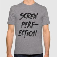 Perfection Mens Fitted Tee Athletic Grey SMALL