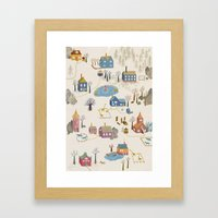 Little Village Framed Art Print