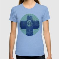 Memories Womens Fitted Tee Athletic Blue SMALL