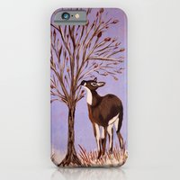 Deer by the tree iPhone 6 Slim Case