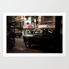 Mumbai Taxi Art Print