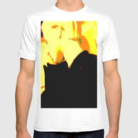 Ghost Of Elvis Mens Fitted Tee White SMALL