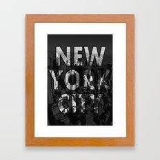 New York City - Black Framed Art Print