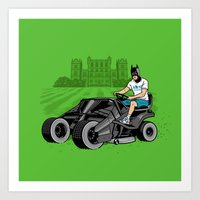 The Bat-mow-bile Art Print