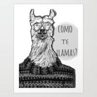Hola! Art Print