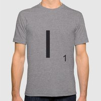 Scrabble I Mens Fitted Tee Athletic Grey SMALL