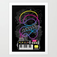 Music Coaster Art Print
