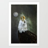 Eagle Calling Art Print