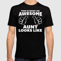 Awesome Aunt Looks Like Quote SMALL Mens Fitted Tee Black