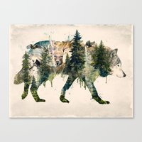 Wolf Is The Pride Of Nat… Canvas Print