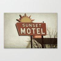 Sunset Motel Canvas Print