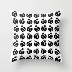 1001 Ladybirds in b&w Throw Pillow
