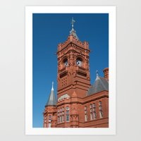 Pierhead Building Cardiff Bay Art Print