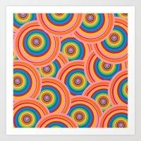 Colorful Circles Art Print