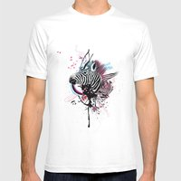 Zebra Mens Fitted Tee White SMALL