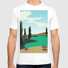 Lake SMALL Mens Fitted Tee White
