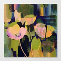 3 Abstract Flowers  Http… Canvas Print