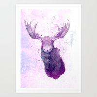 Moose Springsteen Art Print