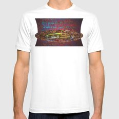 Surf Limo Mens Fitted Tee White SMALL