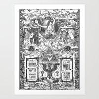Legend Of Zelda - The Th… Art Print