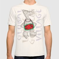 Global Village Mens Fitted Tee Natural SMALL