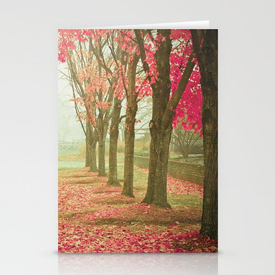Scarlet Autumn Stationery Card