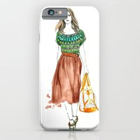 iPhone & iPod Case featuring Burberry Babe by Meegan Barnes