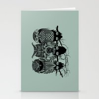 friends Stationery Cards featuring Owls of the Nile by Rachel Caldwell