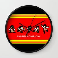8-bit Andres 5 pose v2 Wall Clock