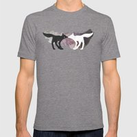 Foxes In The Forest Mens Fitted Tee Tri-Grey SMALL