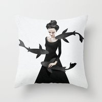 News from afar Throw Pillow