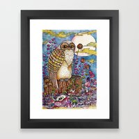 Staring at you Framed Art Print