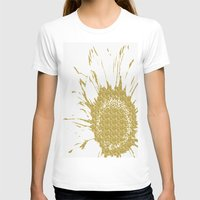 T-shirts featuring Golden Flower by Judy Palkimas