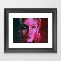 THE PINK QUICK PORTRAIT Framed Art Print