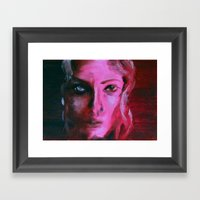 THE PINK QUICK PORTRAIT Framed Art Print