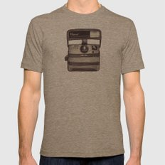 Ballpoint Palaroid Camera Mens Fitted Tee Tri-Coffee SMALL