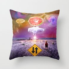 The Day of the Jellies Throw Pillow