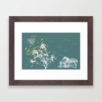 El bosque Framed Art Print