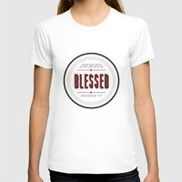 Blessed Womens Fitted Tee White SMALL