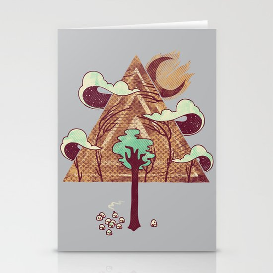The Evergreen Stationery Card