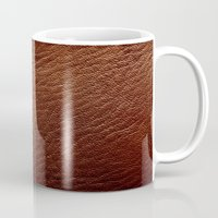 Leather Texture (Dark Brown) Mug