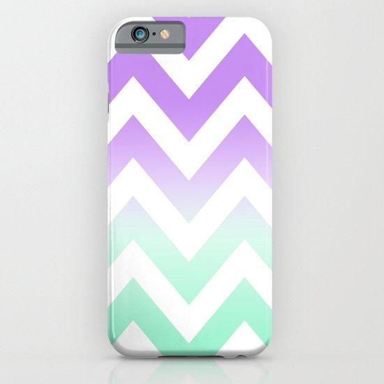 GREEN & PURPLE CHEVRON FADE iPhone & iPod Case