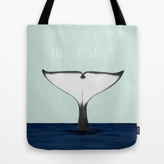 FREE THE WHALES Tote Bag